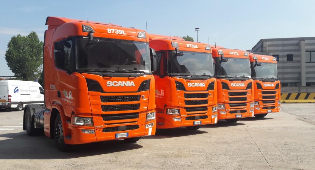 Nuovi veicoli Scania a LNG