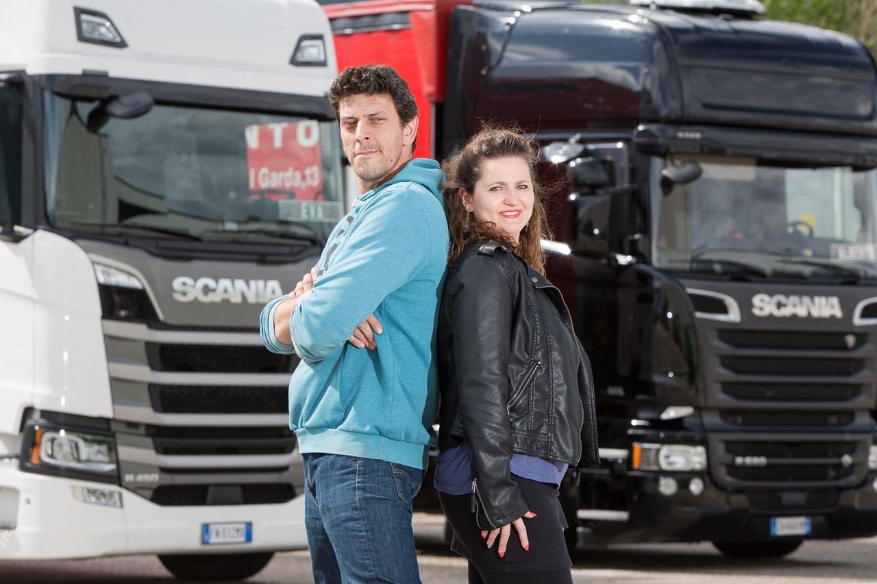 Marito e moglie trentini si sfidano alla finale nazionale della Scania Driver Competitions