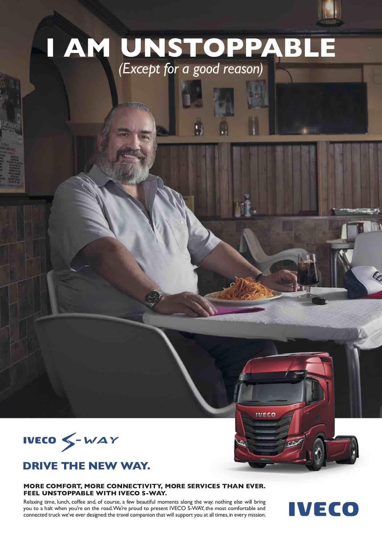 Iveco presenta il nuovo S-WAY sul mercato italiano e lancia la campagna 'Niente può fermarmi'