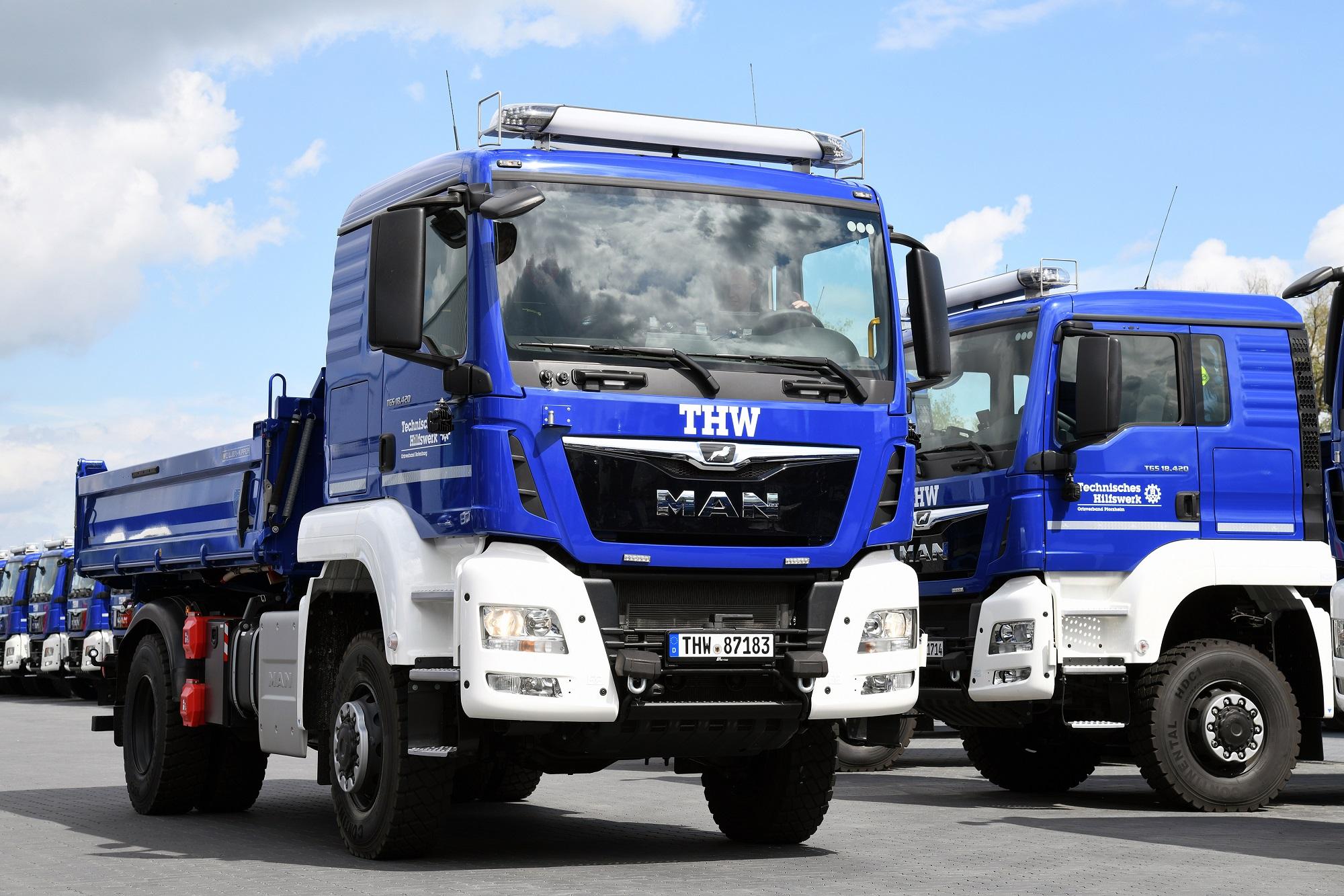 MAN consegna 950 nuovi veicoli all'Agenzia Federale Tedesca per il Soccorso Tecnico