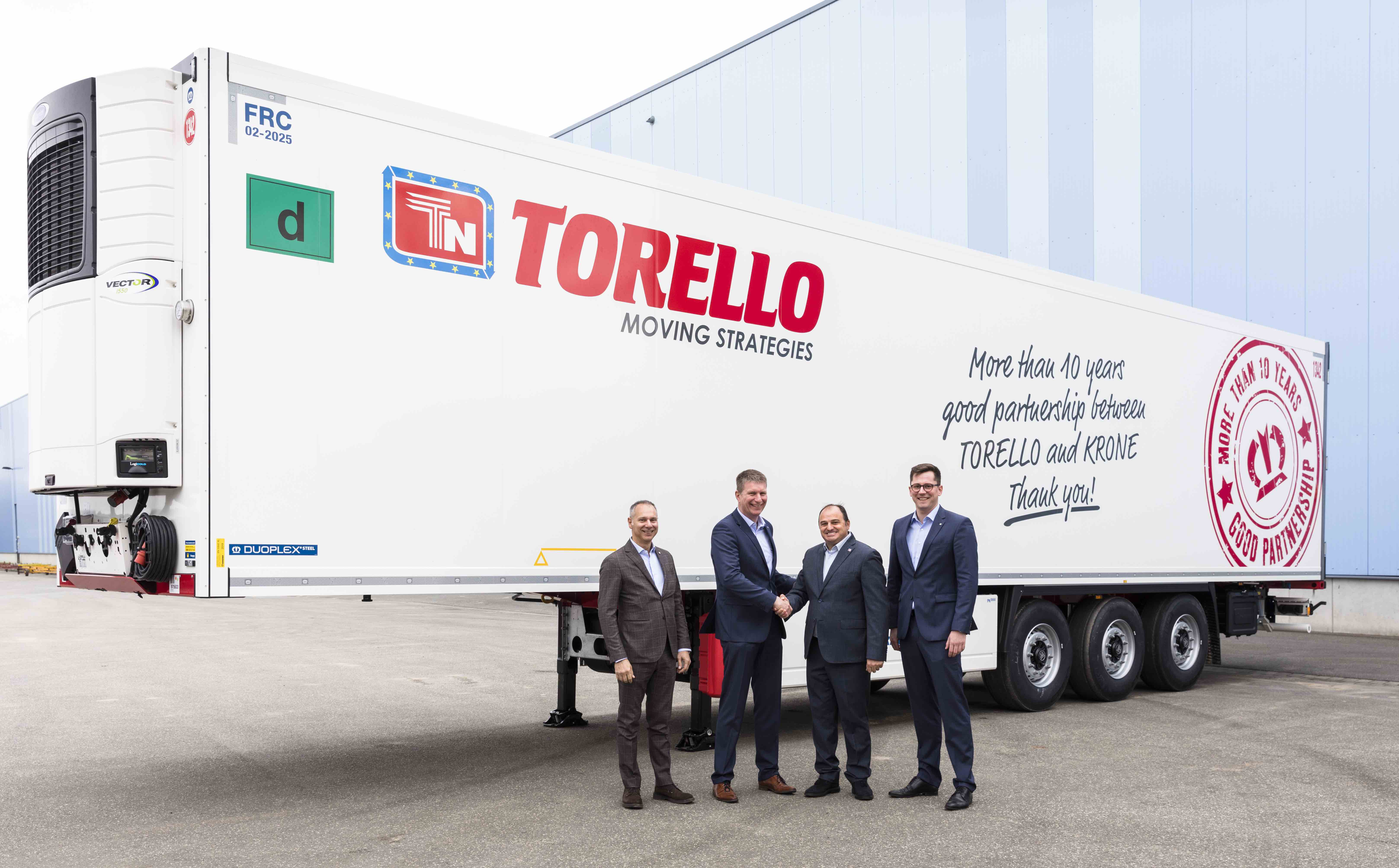 Torello e Krone festeggiano 10 anni di proficua collaborazione