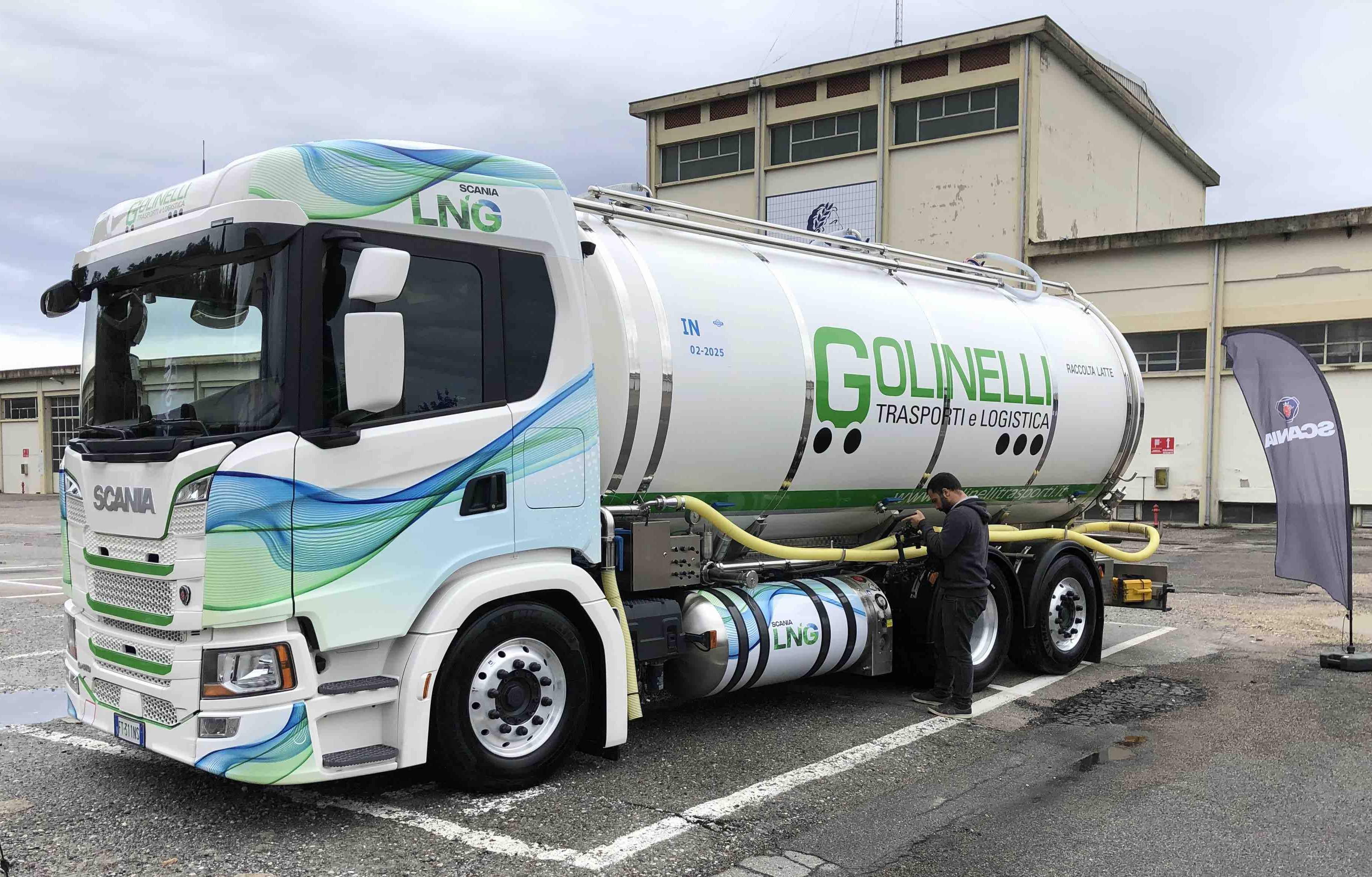 Raccolta latte col metano, Scania e il 'Progetto Mantova'