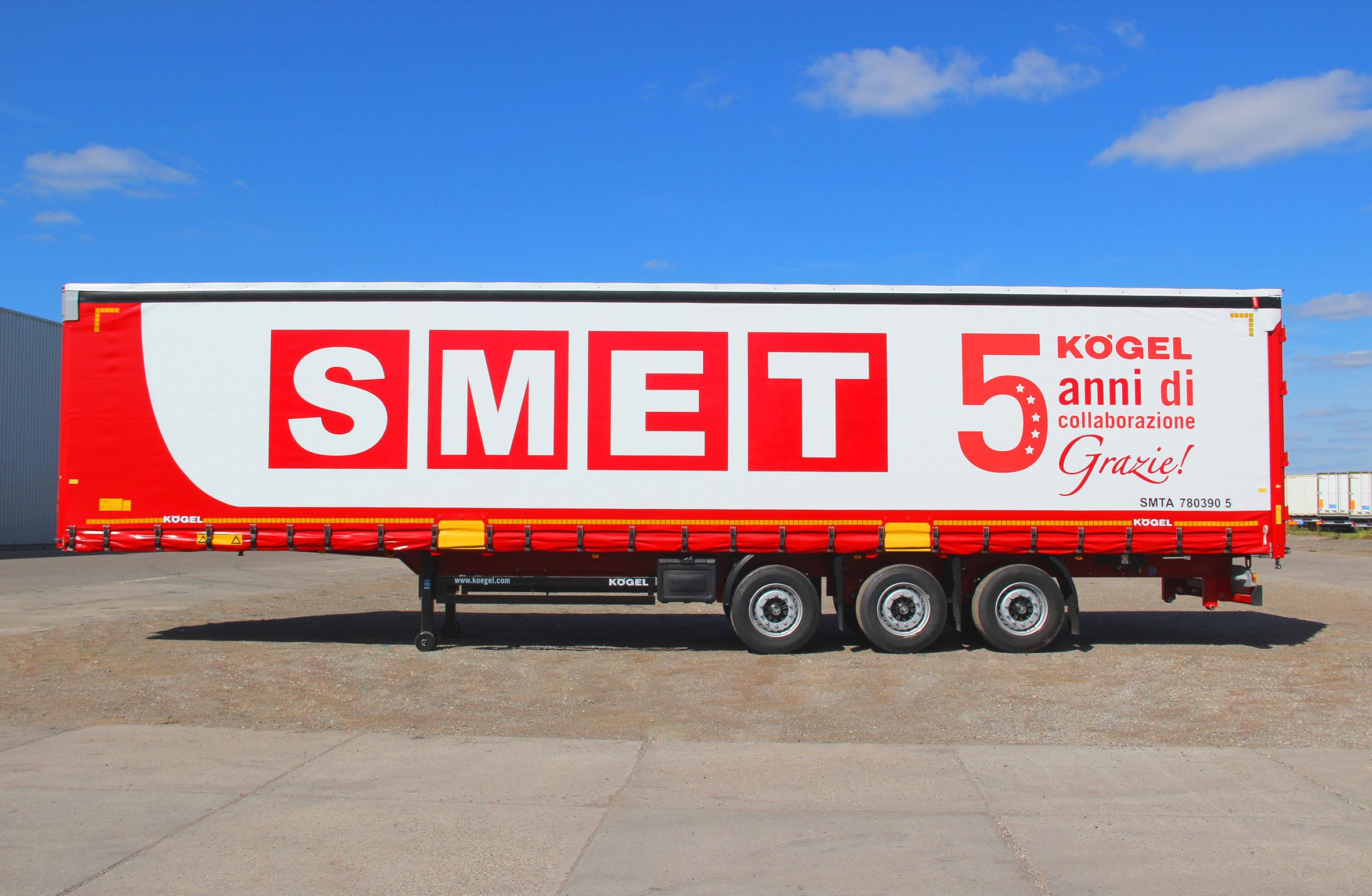 Kögel e SMET, un accordo quadro per 1.000 semirimorchi