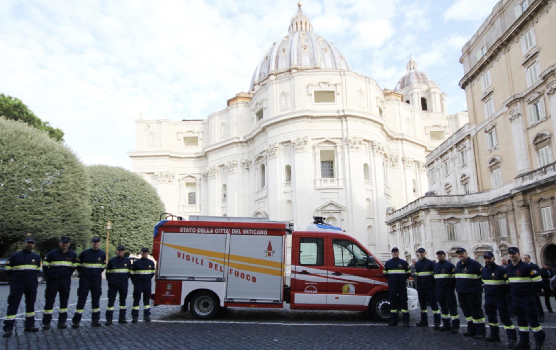 Un nuovo MAN TGE per i Vigili del Fuoco della Città del Vaticano