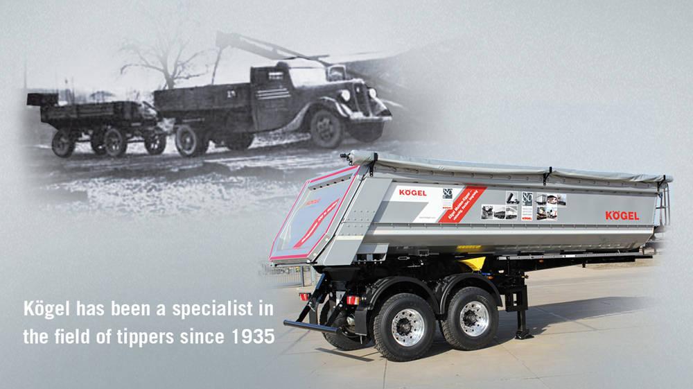 La storia di Kögel nel settore dei ribaltabili è cominciata nel lontano 1935 e segna in modo significativo la capacità tecnica del costruttore tedesco